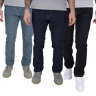 Mens Soulstar Designer Denim Jeans Slim Fit Button Up Casual Trousers