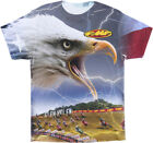 FMF Racing Adult Lightning Bird White T-Shirt Tee Shirt Size M-2XL