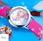 NEW Disney Frozen Wrist Watch Girls Elsa Anna Children Kids Gift Party Christmas