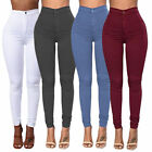 New Womens Skinny S-3XL Crochet Stretch Denim Slim Trousers Leggings Jeans Pants