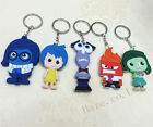 Inside Out PVC Rubber Keyrings Cartoon Keychain Party Gifts 6-8cm