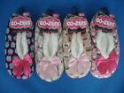 WOMENS LADIES GIRLS NOVELTY ANIMAL DESIGN FLEECE SLIPPERS WITH GRIPPERS SIZE 4-7