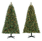 65 Ft Crestwood Pine PVC Christmas Tree with Clear or Multicolor Lights + Stand