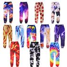Men Women 3D Cat Food Pizza Galaxy Jogger Pants Hip-hop Harem pants Sweatpant