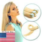 Light Blonde Remy Human Hair Extensions Tape in Skin Weft Straight Hair16''-20''