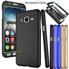 360° Protection PC Hard Case Cover +Tempered Glass For Samsung Galaxy J7 2015
