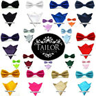 Brand New Mens Pre tied Bow Tie & Matching Handkerchief Hanky Set Party Gift Tux