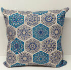 Blue Mosaic/Moraccan Geometric  Style Filled Cushion Various Sizes available