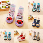 1 Pair Baby Kids Non-Slip Socks Leather Soled Moccasin Sleepers Warmer Shoes Hot