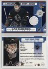 2003 Pacific Prism Blue 147 Game-Worn Jersey Dan Cloutier Vancouver Canucks Card