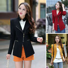 Women\'s Fashion Long Sleeve Slim Casual Business Blazer Suit Jacket Coat Outwear