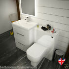 PATELLO WHITE BATHROOM VANITY CABINET FURNITURE UNIT with TOILET BASIN and TAP