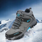 GOMNEAR big size men trail hiking boots waterproof antiskid shock absorb shoes