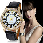 GENEVA Elegant Women's Watches Stainless Steel Analog Leather Quartz Wrist Watch