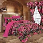 "CAMO Sheets & Comforter ""THE WOODS"" QUEEN BEDDING SET Regal Comfort  8  colors"