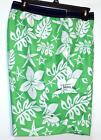 NWT Men's Chaps Cargo Swim Trunks Shorts Elastic Band L XXL Green White Floral