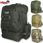 VIPER MISSION  BACKPACK HIKING 38L CAMPING RUCKSACK FISHING CADET HYDRATION ARMY