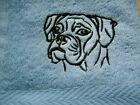 Embroidered Boxer dog design, face flannel £4.50 inc 1st class P&P