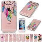 Soft TPU Patterned Clear Silicone Shockproof Cover Case For iPhone 5 6 6s Plus