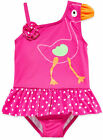 Baby Buns Girls Swimsuit One-Piece Flamingo SPF 50 Toddler sizes 3T 4T 5T NEW