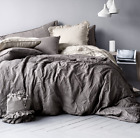 Duvet Cover Set 100% Natural Washed Linen Rustic French Country Premium Quality