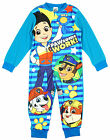 Boys Paw Patrol Puppy Dog Ryder Pawsome Fleece Sleepsuit Romper 2 to 6 Years