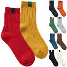 Autumn Winter Women Girls Fashion Retro Warm Solid Vertical Strip Cotton Socks