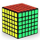 QiYi WuHua 6x6x6 67mm SPEED CUBE in Black, Stickerless Bright, White