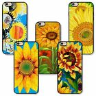 Floral Apple iPhone Rubber TPU case patterned with sunflower Van Gogh