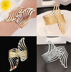 CHIC Fashion Women Crystal Gold/Silver Plated Cuff Bracelet Bangle Jewelry Gift