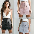 Women PU Leather Skirt Vintage Bandage Skirts High Waist mini Pencil Skirt