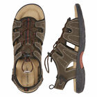 St Johns Bay Cartop Mens Open Toe Bungee Sandals Brown sizes 8 9 10 11 12 13 NEW