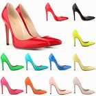 Womens Patent High Heels Pointy Corset Style Pumps Work Shoes US Stock Promotion