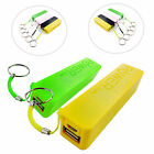 2600 mAh KEY RING POWER BANK EXTERNAL PORTABLE USB FOR LATEST MOBILE PHONES