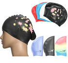 Unisex Swimming Cap Silicone Swim Hat Free Size Waterproof Shower Cap