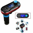 WIRELESS CAR  FM TRANSMITTER MP3 DUAL CHARGER USB PORT FOR 2015-2016 NEW PHONES.