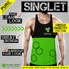 MENS GYM SINGLET T BACK, RACER BACK, Y BACK, STRINGER, BODYBUILDING
