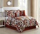 10 Piece Autumn Spice/Brown Bed in a Bag w/600TC Cotton Sheet Set