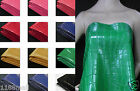 Thick PU Faux Glossy Crocodile Leather Fabric Heavy Upholstery Grade Material