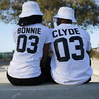 USA Couple T-Shirt Bonnie 03 and Clyde 03 Love Matching Shirts Couple Tee Tops