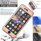 360° Full Protection Hybrid Acrylic Slim Hard Case Cover Skin for Apple iPhone