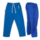 MENS HEAVYWEIGHT BODYBUILDING CLOTHING WORKOUT FITNESS GYM TRAINING PANTS BLUE