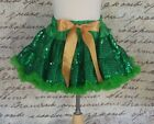 Tinkerbell Sequined Pettiskirt, Green Sequined Tutu, Tinkerbell Pettiskirt, USA