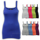 Ladies Ribbed Vest Womens Top Sleeveless Beach Gym Stretch Casual Summer New