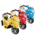 3 Wheels Kids Ride On 6V Toy Motorcycle Electric Battery Powered Bicycle 3 Color