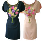 Sugarhill Boutique Bouquet of Roses Dress RRP?60 Floral Embroidered Pink Blue