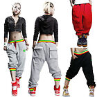 HIP-HOP Mens Womens Casual Harem Baggy Dance Sports Sweat Pants Trousers Slacks