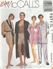 McCall's 7371 Unisex Robe, Belt, Pajama Top, Pants or Shorts   Sewing Pattern