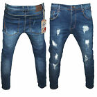 Jeans Uomo Denim Strecht Strappato Vita Bassa Slim Fit Bellois Fashion M208