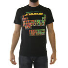 Star Wars Periodic Table Men's Black T-shirt NEW Sizes S-3XL $10.99 USD